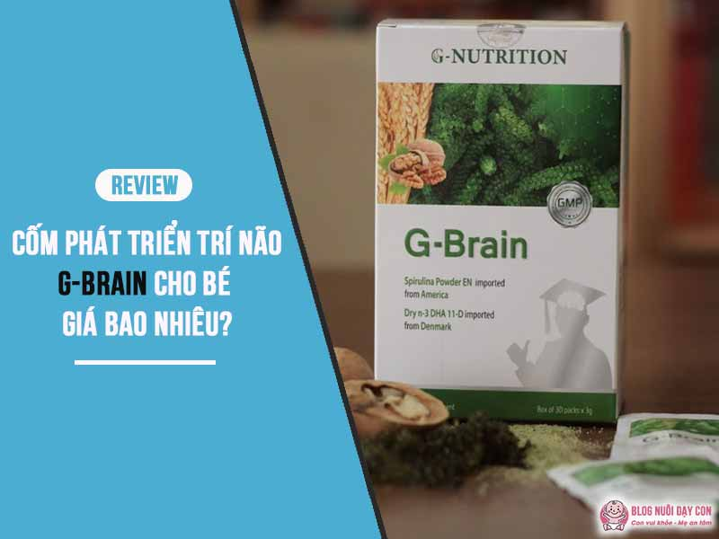 Review cốm trí não G-Brain giá bao nhiêu