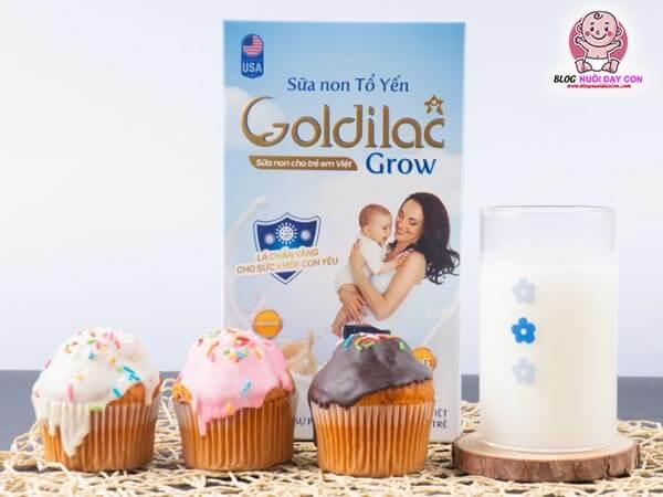 Review sữa non tổ yến Goldilac Grow