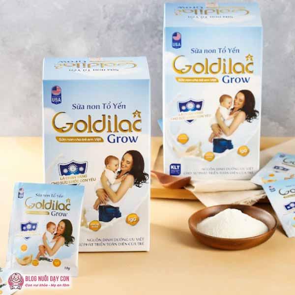 Sữa non tổ yến cho trẻ biếng ăn Goldilac Grow
