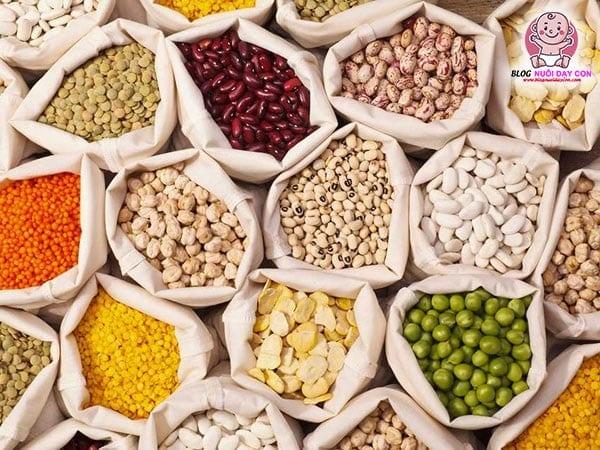 Các loại đậu, hạt, ngũ cốc