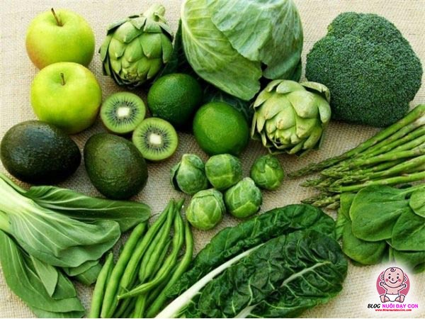 Các loại rau có màu xanh lá đậm
