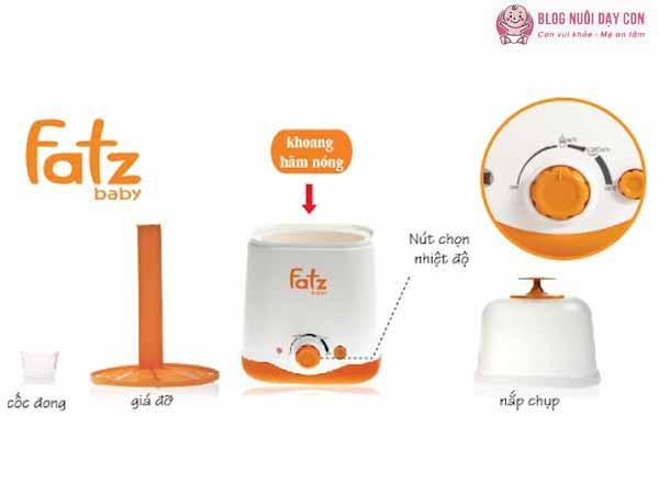Các bộ phận của máy hâm sữa Fatz Duo 2
