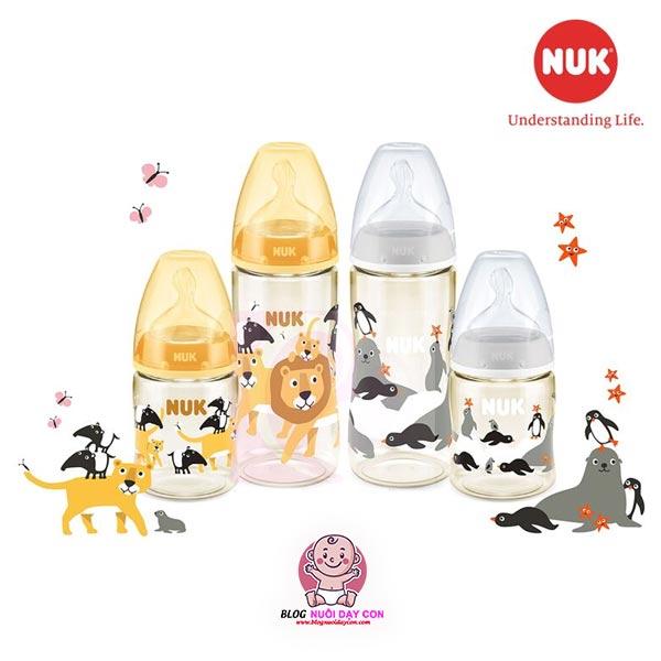 Các loại bình sữa Nuk