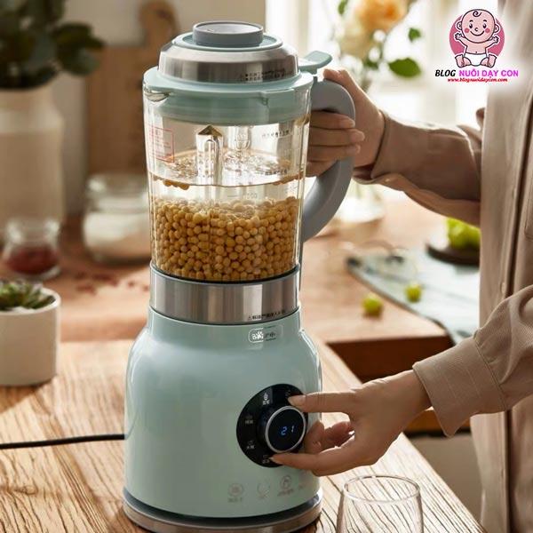 Cách làm sữa đậu nành bằng máy làm sữa hạt