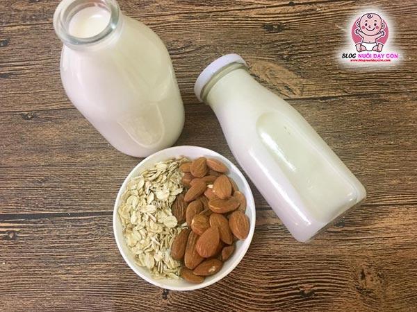 Cách làm sữa hạnh nhân yến mạch
