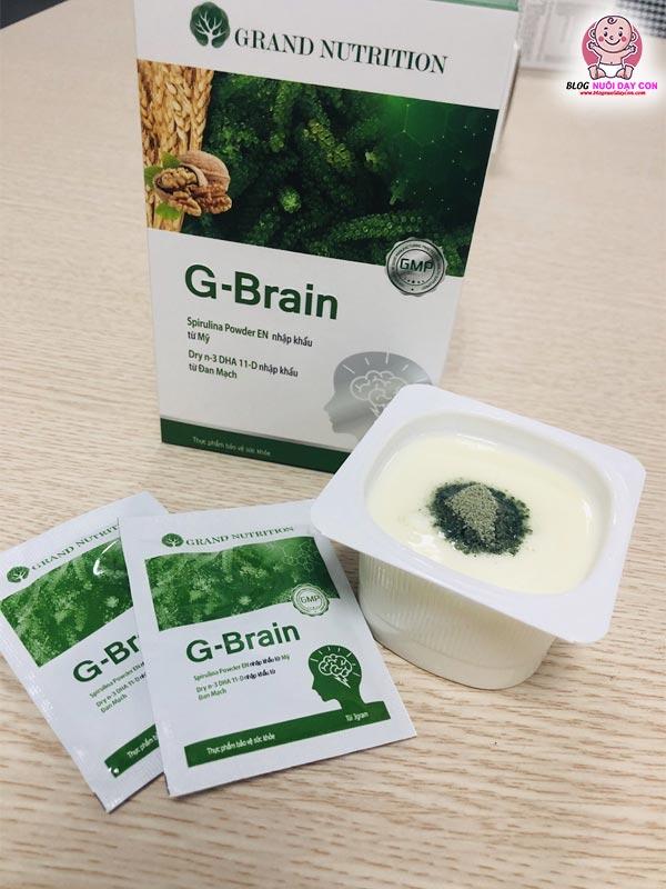 Cách sử dụng cốm trí não G-Brain