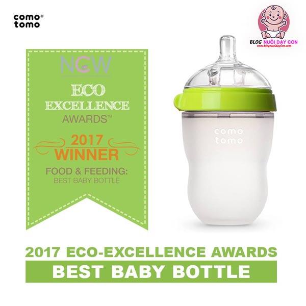 Bình sữa Comotomo đạt giải thưởng BEST BABY BOTTLE năm 2017