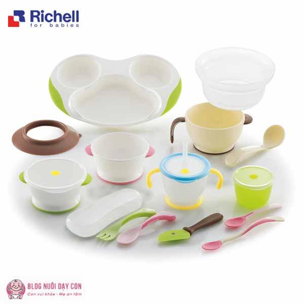 Bộ ăn dặm toàn diện Richell kiểu Nhật 14 món