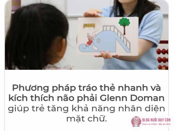 Phương pháp tráo thẻ nhanh Glenn Doman